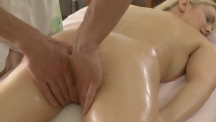 Sweet lass acquires lusty poundings after having massage