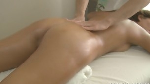 Four girlhood enjoy private massage time
