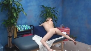 Unstinted tittied golden-haired chick takes off raiment and underware previous to sessions of intimate massage. This Babe becomes aroused during be passed on massage and feels desire to fuck with be passed on dude who is massaging her vacant body.