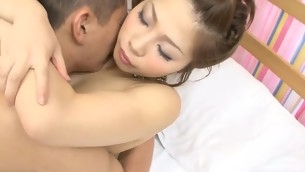 Asian cutie feels wang of her boyfriend stuffing all wet holes