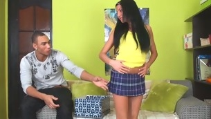 Sweet and delicate legal age teenager has her taut cum-hole ripped accent
