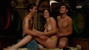 Wild nubiles are getting their needs satisfied forth three-some sex